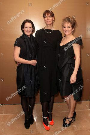 From left to right, Tracy O'Riordan, Clio Barnard and Lorraine Ashbourne attend the London Critics Circle Awards at the May Fair Hotel,, in London