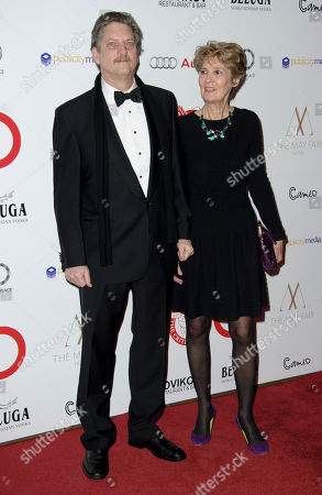 Andre Singer and Lynette Singer arrive for The London Critics Circle Awards, in London