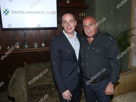 Dan Peres, Editor-In-Chief, DETAILS Magazine, left, and Kevin Martinez attend Digital Mavericks 2014 hosted by DETAILS and MR PORTER at 41 Ocean Club, in Santa Monica, Calif