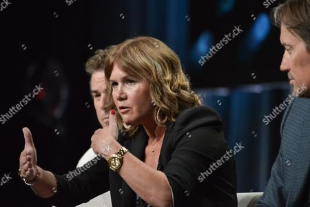 "Tracey Gold speaks onstage at the ""Heartbreakers"" portion of the Discovery 2014 Summer TCA, in Beverly Hills, Calif"