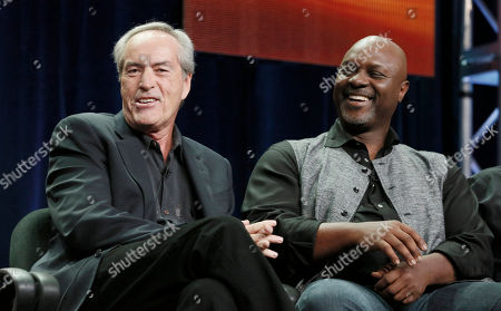 "Powers Boothe and Robert Wisdom attend the ""Nashville"" panel at the Disney ABC TCA Day 2 at the Beverly Hilton Hotel, in Beverly Hills, Calif"