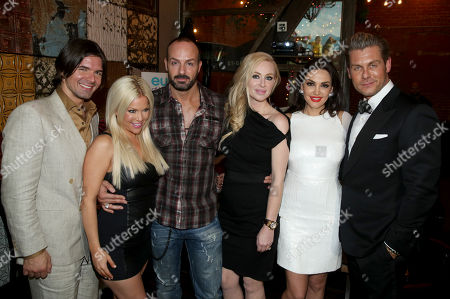 Massimo Dobrovic, Fawni, Sascha Gerecht, Isabel Adrian, Bleona and Jannik Olander seen at the Euros of Hollywood Premiere Party at St. Felix on in Hollywood, Calif