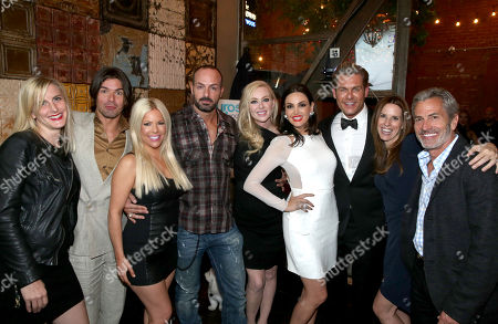 Jenny Ramirez, Co-Executive Producer, Massimo Dobrovic, Fawni, Sascha Gerecht, Isabel Adrian, Bleona, Jannik Olander, Jen O'Connell, Head of U.S. Television for CORE Media Group and Executive Producer with Rob Lee, Executive Producer, seen at the Euros of Hollywood Premiere Party at St. Felix on in Hollywood, Calif