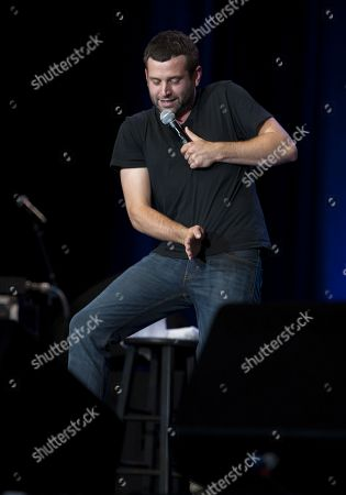Comedian Brent Morin performed as part of the Funny or Die Oddball & Curiosity Comedy Tour at Aaron's Amphitheatre at Lakewood, in Atlanta, Ga