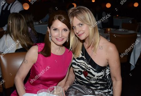 "Jean Shafiroff, left, and Nastassja Kinski pose at private LA dinner for ""Song One"" screening hosted by Jean Shafiroff with director Kate Barker-Froyland and Anne Hathaway at The Palm Restaurant, in Beverly Hills, California"