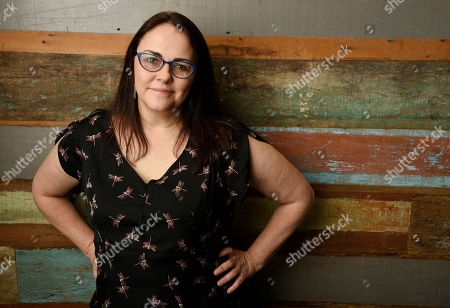 "Stock Photo of Jocelyn Moorhouse, director and co-writer of the film ""The Dressmaker,"" poses for a portrait at Broad Green Pictures, in Los Angeles"