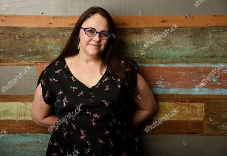 "Stock Picture of Jocelyn Moorhouse, director and co-writer of the film ""The Dressmaker,"" poses for a portrait at Broad Green Pictures, in Los Angeles"
