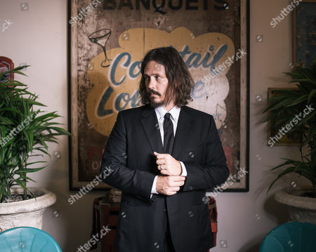 John Paul White poses for a portrait before playing a Friday night show at The Troubadour in West Hollywood, Calif