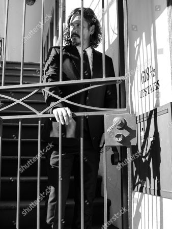 Stock Picture of John Paul White poses for a portrait before playing a Friday night show at The Troubadour in West Hollywood, Calif