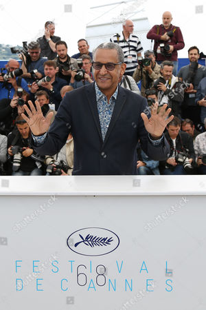 Director Abderrahmane Sissako poses for photographers during a photo call for the Cinefondation and short film jury, at the 68th international film festival, Cannes, southern France