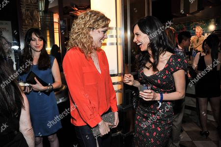 """Stock Picture of Annie Tedesco, left, and Charlene Amoia attend the after party for the LA Premiere of """"Authors Anonymous"""", in Los Angeles"""