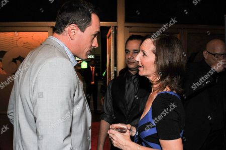 "Chris Klein, left, and Ellie Kanner attend the after party for the LA Premiere of ""Authors Anonymous"", in Los Angeles"