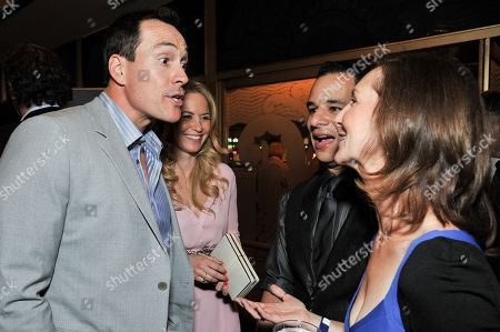 "From left, Chris Klein, Laina Rose, Hal Schwartz, and Ellie Kanner attend the after party for the LA Premiere of ""Authors Anonymous"", in Los Angeles"