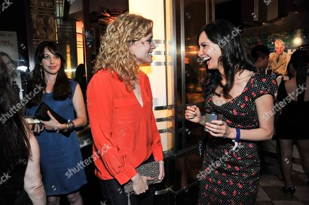 """Annie Tedesco, left, and Charlene Amoia attend the after party for the LA Premiere of """"Authors Anonymous"""", in Los Angeles"""