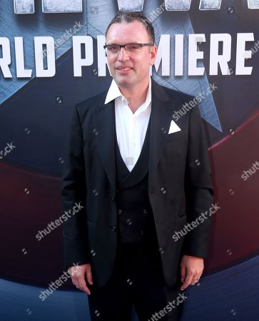 "Composer Henry Jackman arrives at the Los Angeles premiere of ""Captain America: Civil War"" at the Dolby Theatre on"