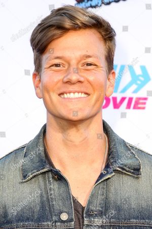 """Tyler Ward arrives at the LA Premiere of """"Smosh: The Movie"""" at Westwood Village Theatre, in Los Angeles"""