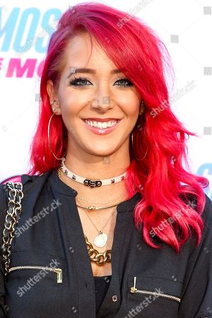 """Jenna Marbles arrives at the LA Premiere of """"Smosh: The Movie"""" at Westwood Village Theatre, in Los Angeles"""