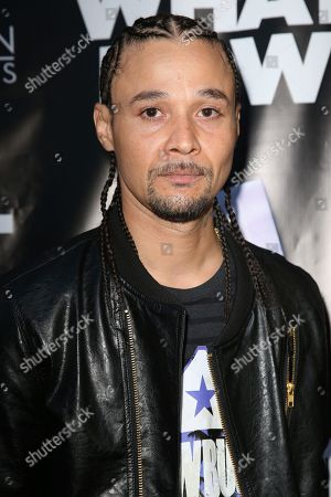 """Bizzy Bone arrives at the LA Premiere of """"What Now"""" at Laemmle Music Hall, in Beverly Hills, Calif"""