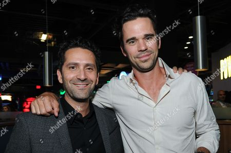"Director Jay Karas, left, and actor David Walton attend the after party for the LA Special Screening of ""Break Point"" held at the TCL Chinese 6 Theatres, in Los Angeles"