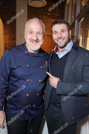 Chef Art Smith and Rugby Star Ben Cohen at the second Lyfe Kitchen grand opening celebration on in Culver City, CA