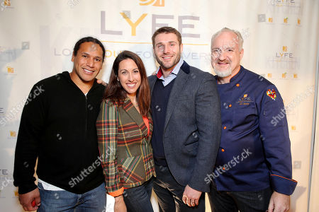Football Player Troy Polamalu, Janet Evans, Rugby Star Ben Cohen and Chef Art Smith at the second Lyfe Kitchen grand opening celebration on in Culver City, CA