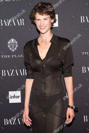 Saskia de Brauw arrives at Harper's Bazaar ICONS by Carine Roitfeld celebration at The Plaza Hotel, in, New York