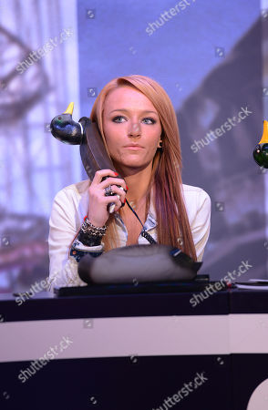 Stock Picture of Maci Bookout appears during MTV's Restore the Shore telethon at the MTV Times Square Studios on in New York