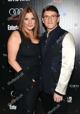 """Anthony Russo and Ann Russo attend a special screening of """"Captain America: Civil War"""", hosted by The Cinema Society and Audi, at Brookfield Place, Henry R. Luce Auditorium, in New York"""