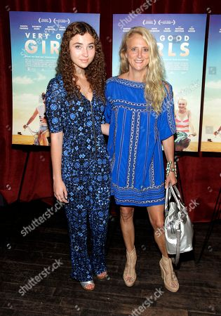 """Fashion designer Nanette Lepore, right, and daughter Violet Lepore, left, attend a screening of """"Very Good Girls"""", in New York"""