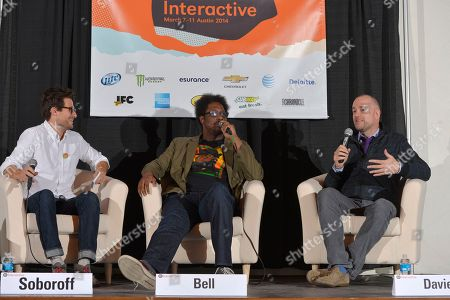 """From left, Jacob Soboroff from TakePart Live, W. Kamau Bell, comedian, and Michael Davies, president of Embassy Row and producer of Bravo's Watch What Happens,"""" talk in the TV Pivots Back To The Future: Why Live TV Matters Now More Than Ever panel during Participant Media's Engage, Inspire and Ignite: Conversations about Unleashing Social Good at SXSW in Austin, Texas"""