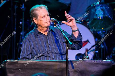 """Brian Wilson performs on stage during Brian Fest: A Night To Celebrate The Music Of Brian Wilson at the Fonda Theatre in Los Angeles. Wilson recently released """"No Pier Pressure."""" For his eleventh solo album, he was able to attract young recording artists like Kasey Musgraves, Nate Ruess and Zoey Deschanel and M. Ward, known as She & Him"""