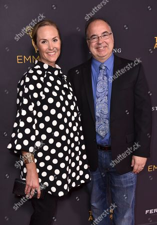 Stock Photo of Kristin Carey, left, and Thomas Schnauz attend the Television Academy's 2016 Producers Nominee Reception at the Montage Hotel, in Beverly Hills, Calif