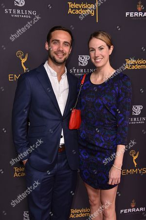 Stock Picture of Mathew Braley, left, and Rowan Wheeler attend the Television Academy's 2016 Producers Nominee Reception at the Montage Hotel, in Beverly Hills, Calif