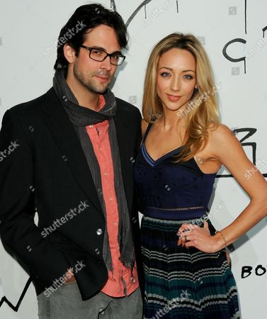 "Michael Elprin, left, and Sarah Scott arrive at The Art of Elysium's 6th Annual ""Pieces of Heaven"" art auction at the ACE Museum on in Los Angeles"