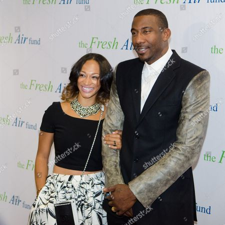 Alexis Stoudemire and Amar'e Stoudemire arrive at The Fresh Air Fund Spring Gala Benefit at Pier Sixty at Chelsea Piers on in New York