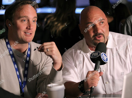 Jay Mohr, left, and Jay Glazer attend the UFC on Fox event at Staples Center, in Los Angeles