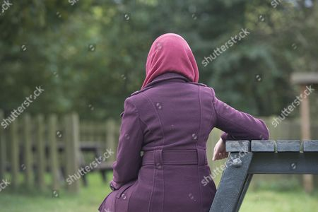 Stock Image of Sara Adam (not Real Name) A Former Student And Whistleblower From An Islamic School. For Lucy Osborne Story