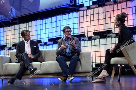 Stock Image of Dr. Oz, Co-Founder of Sharecare (L), Jeff Arnold,  Founder & CEO of Sharecare (C) and Ana Kasparian Host of Young Turks