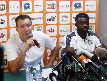 Marc Wilmots and Kolo Toure