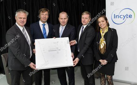Editorial image of pharmaceutical company Incyte new branch, Yverdon-Les-Bains, Switzerland - 07 Nov 2017