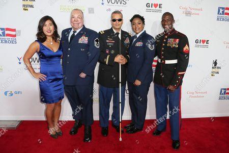 Jen Oh, Sgt Israel Del Toro Jr, Ivan Castro, Deondra Parks and Kionte Storey
