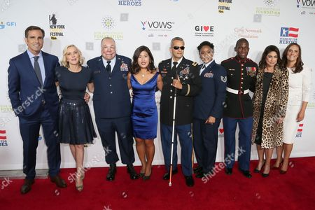 Bob Woodruff, Lee Woodruff, Sgt Israel Del Toro Jr, Jen Oh, Ivan Castro, Deondra Parks, Kionte Storey, Caroline Hirsch and Anne Marie Dougherty