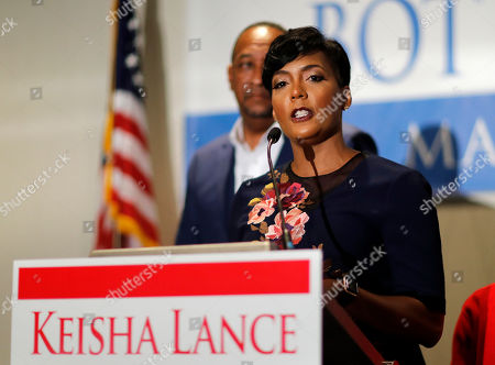 Atlanta city councilwoman and mayoral candidate Keisha Lance Bottoms speaks at an election night party in Atlanta, . Nearly a dozen candidates are competing to succeed term-limited Atlanta Mayor Kasim Reed. With so many contenders running, it's a safe bet that some of these elections won't be settled Tuesday. For any race in which no candidate wins more than 50 percent of the vote, the top two finishers will return for a runoff election Dec. 5
