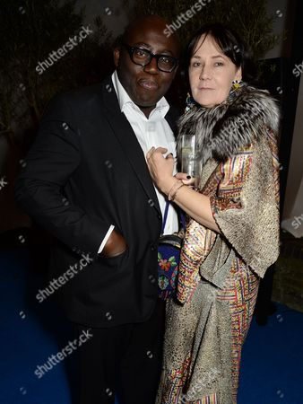 Editorial photo of Edward Enninful dinner celebrating the December issue of British Vogue, The River Cafe, London, UK - 07 Nov 2017
