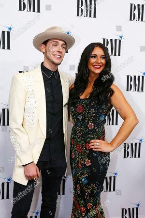 Stock Image of Sam Williams, Jaida Dreyer. Sam Williams and Jaida Dreyer arrive at the BMI Awards at BMI Nashville, in Nashville, Tenn