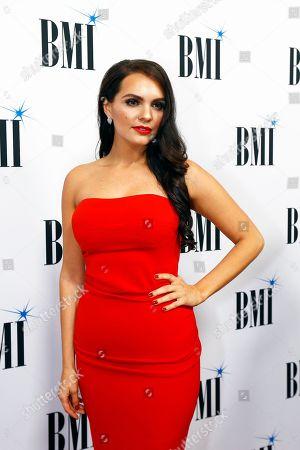 Renee Blair arrives at the BMI Awards at BMI Nashville, in Nashville, Tenn