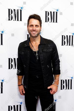 Matt Thomas arrives at the BMI Awards at BMI Nashville, in Nashville, Tenn