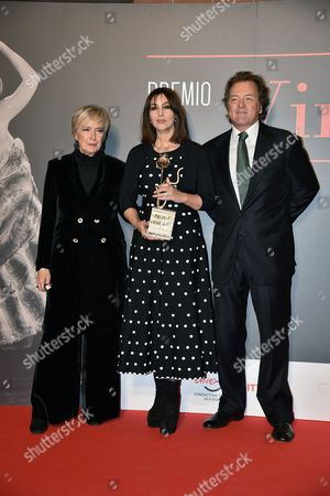 Piera Detassis, Monica Bellucci and Corrado Pesci