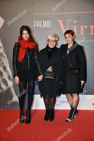Anna Fendi (C) with Mina and Leonetta Fendi