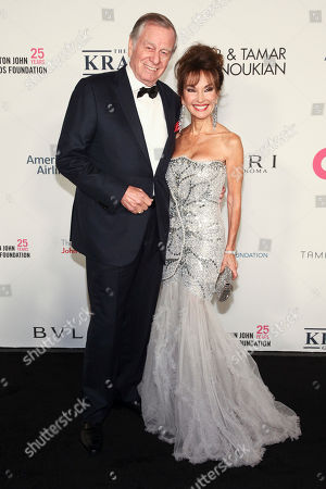 Helmut Huber, Susan Lucci. Helmut Huber, left, and Susan Lucci, right,